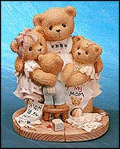 Katie, Renee, Jessica, Matthew - I'm Surrounded By Hugs, Cherished Teddies Figurine #538299