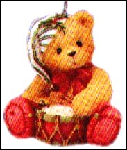 Drummer Boy, Cherished Teddies Ornament #546550 MAIN