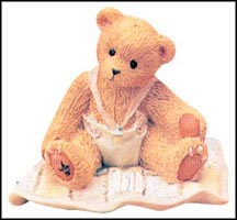 Baby Girl On Quilt - A Gift To Behold, Cherished Teddies Figurine #599352