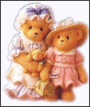 Charissa And Ashylynn - Every Journey Begins With One Step, Cherished Teddies Figurine #601578