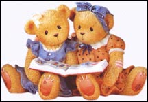 Roxie And Shelly - What A Story We Share!, Cherished Teddies Figurine #601586 MAIN