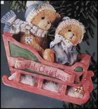 Bears In Sled - Bundled Up For The Holidays, Cherished Teddies Ornament #617229