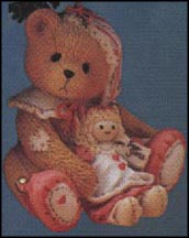 Elf Bear With Doll, Cherished Teddies Ornament #625434