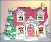 The Cratchit's House - Nightlight, Cherished Teddies Lighted House #651362