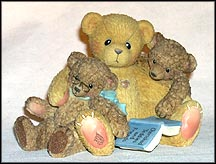 Caleb & Friends - When One Lacks Vision, Another Must Provide Supervision, Cherished Teddies Figurine #661996