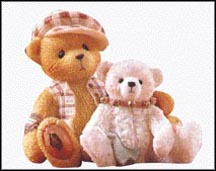 Bailey And Friend - The Only Thing More Contagious Than A Cold Is A Best Friend, Cherished Teddies Figurine #662011
