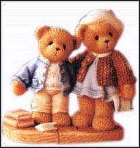 Clement And Jodie - Try, And Try Again!, Cherished Teddies Figurine #706744