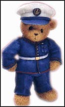 Marines - Whatever The Distance A Friend Stays With You, Cherished Teddies Figurine #706949