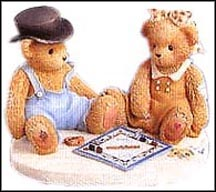 Jerald And Mary Ann - What Would Game Night Be Without You, Cherished Teddies Figurine #811742