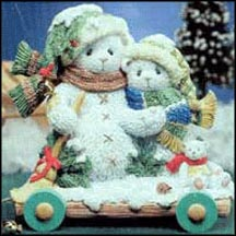 Ursula And Bernhard - In The Winter, We Can Build A Snowman, Cherished Teddies Figurine #848603