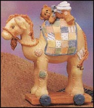 Nativity Pull-Toy, Camel, Cherished Teddies Figurine #904309
