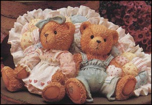 Michelle & Michael - Friendship Is A Cozy Feeling, Cherished Teddies Figurine #910775