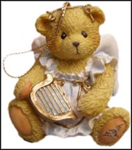 Angel With Harp, Cherished Teddies Ornament #912980H