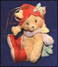 Bear With Holly On Hat, Cherished Teddies Ornament #951226S