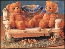 Two Bears On Bench - Heart To Heart, Cherished Teddies Figurine #CRT240
