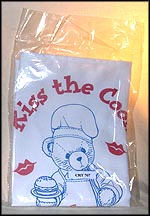 Kiss The Cook Apron, Cherished Teddies Apron #CRT707