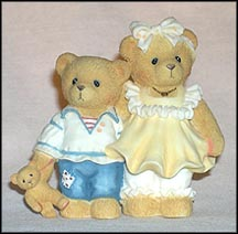 Bernard & Bernice Beary, Cherished Teddies Figurine #CT972 MAIN