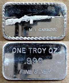 M-1 Carbine Rifle' Art Bar by Doyle's Coin Palace.