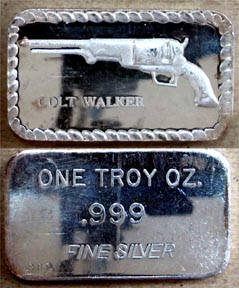 Colt Walker Revolver' Art Bar by Doyle's Coin Palace.