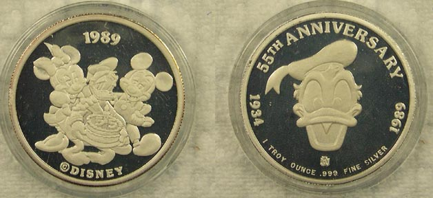 Donald Duck 55th Anniversary - 1989' Art Bar.