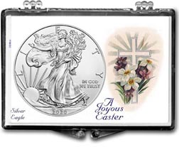 2020 A Joyous Easter with Cross American Silver Eagle Gift Display THUMBNAIL