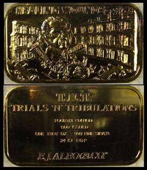 Watergate - Healing Wounds, gold plated' Art Bar by EJ Aleo & Associates.