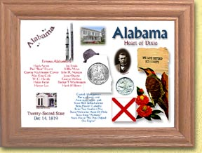 Alabama State Quarter Frame