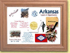 Arkansas State Quarter Frame - with Gold Plated State Quarter