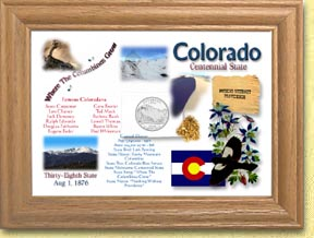 Colorado State Quarter Frame