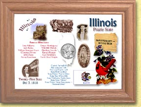 Illinois State Quarter Frame