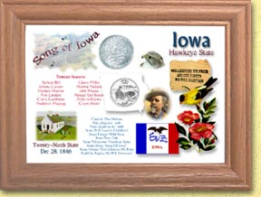 Iowa State Quarter Frame