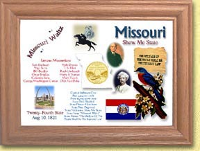 Missouri State Quarter Frame - with Gold Plated State Quarter