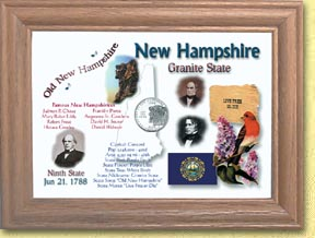 New Hampshire State Quarter Frame