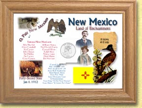 New Mexico State Quarter Frame