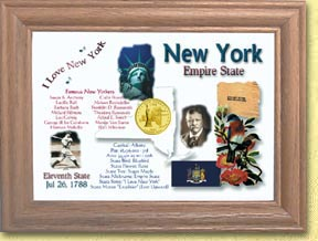 New York State Quarter Frame - with Gold Plated State Quarter
