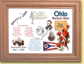 Ohio State Quarter Frame