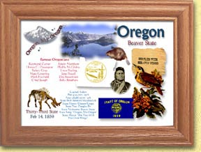 Oregon State Quarter Frame - with Gold Plated State Quarter