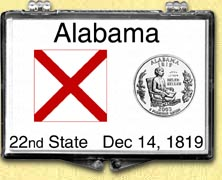 Alabama - State Flag Snaplock Display