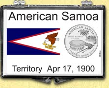 American Samoa Flag Snaplock Display
