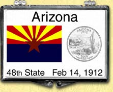 Arizona State Flag Snaplock Display