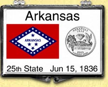 Arkansas - State Flag Snaplock Display