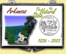 Arkansas - The Natural State Snaplock Display