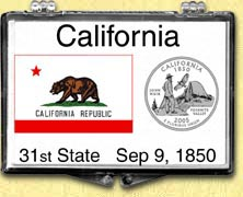 California - State Flag Snaplock Display