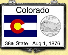 Colorado - State Flag Snaplock Display