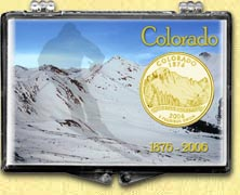 Colorado - Colorful Colorado Snaplock Display - with Gold Plated State Quarter