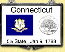 Connecticut - State Flag Snaplock Display