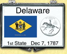 Delaware - State Flag Snaplock Display