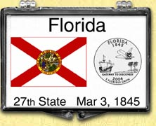 Florida - State Flag Snaplock Display