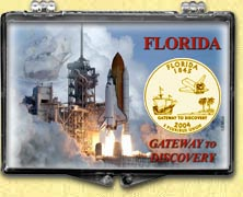 Florida - Gateway To Discovery Snaplock Display - with Gold Plated State Quarter