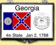 Georgia - State Flag Snaplock Display